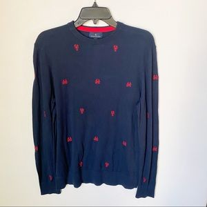 Brooks brothers blue crab sweater size small